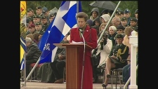 Princess Anne at CFB Borden