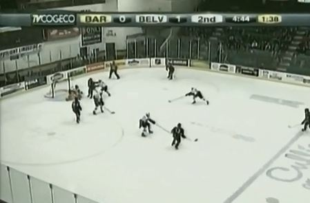 the barrie colts were in belleville last night taking on