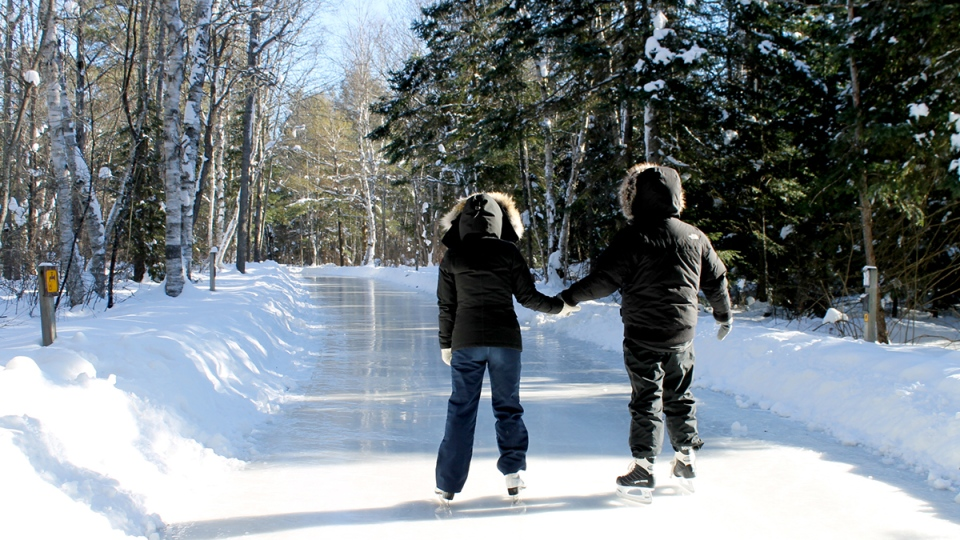 A 1.3-kilometre outdoor skating trail is open for the season at Arrowhead Park – just north of Huntsville. (Arrowhead Park photo)