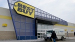 A customer walks to a Best Buy in Laval, Que. on Thursday Jan. 30, 2014. (THE CANADIAN PRESS / Ryan Remiorz)