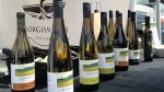 A selection of local wine is on sale at the Collingwood farmers' market May 17, 2014 for the first time as part of a new provincial project to make local wine more available. (Steve Mansbridge / CTV Barrie)