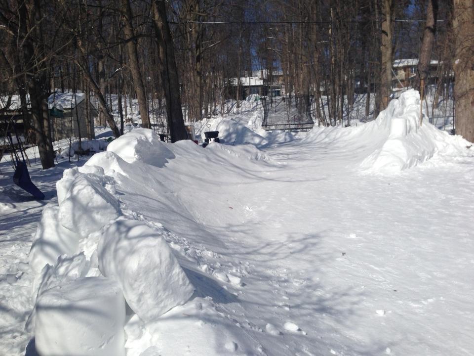 barrie man makes giant backyard luge track ctv barrie news