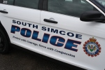 A South Simcoe Police car can be see on Tuesday, April 21, 2015. (Geoff Bruce/ CTV Barrie)