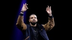 Musician Drake gestures during the Apple Worldwide Developers Conference in San Francisco, Monday, June 8, 2015. (AP / Jeff Chiu)