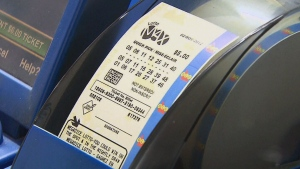 A lottery ticket is shown in this file photo.