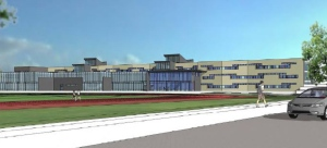 A proposed new high school under the Simcoe County District School Board in Barrie, Ont. can be seen in this model rendering. (Simcoe County District School Board)