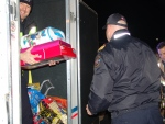 Vehicles filled with toys rolled into CTV Barrie's annual Drive-Thru Drop Off in support of Toy Mountain on Wednesday, Dec. 9, 2015 in Barrie, Ont. (Steve Wishart/ CTV Barrie)