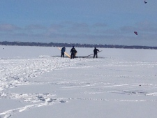 ATV goes through ice on Lake Simcoe