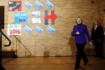 Democratic presidential candidate Hillary Clinton walks to a stage at a campaign stop Friday, Feb. 5, 2016, in Manchester, N.H. (AP / Matt Rourke)