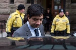 Former radio host Jian Ghomeshi leaves a Toronto court after day four of his trial on Friday, February 5, 2016. (Chris Young/THE CANADIAN PRESS)