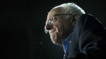 Democratic presidential candidate Sen. Bernie Sanders, I-Vt., grimaces as he delivers his stump speech during a campaign stop at the University of New Hampshire Whittemore Center Arena, Monday, Feb. 8 in Durham, N.H. on Monday, Feb. 8, 2016. (AP / John Minchillo)