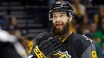 Brent Burns of the San Jose Sharks in Nashville, Tenn., on Jan. 31, 2016. (Mark Humphrey / AP)