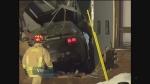 Car crashes into building