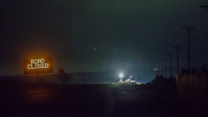 Lights are seen from the Narrows roadblock near Burns, Ore., as .FBI agents have surrounded the remaining four occupiers at the Malheur National Wildlife Refuge, on Wednesday, Feb.10, 2016. (Thomas Boyd / The Oregonian)