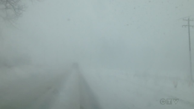 Extended: Whiteout conditions near Barrie