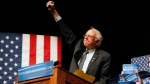 Democratic presidential candidate Sen. Bernie Sanders, I-Vt., gestures to supporters during a campaign rally in Laramie, Wyo., Tuesday, April 5, 2016. Sanders won the Democratic presidential primary in Wisconsin Tuesday. (AP / Brennan Linsley)