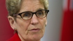 Ontario Premier Kathleen Wynne announces a new Free Tuition grant for student going into secondary education in Kingston, Ont., on  March 31, 2016. THE Canadian PRESS IMAGES/Lars Hagberg