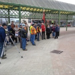 People gathered at Barrie City Hall for the National day of Mourning (Jim Holmes/CTV Barrie)