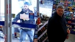 The OPP released these images of two men they say are wanted in connection to an abduction in Ramara Township, Ont. on Sunday, May 1, 2016. (Ontario Provincial Police)