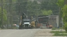One of Barrie's busier and more worn-out roads is