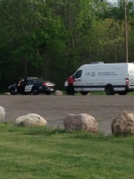 An SIU vehicle and Midland Police cruiser at Pete Pettersen Park in Midland on June 1/16. (Courtesy: Josh Smith)