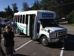Bracebridge Ont.'s Ride the Wave transit bus can be seen in on Monday, Aug. 29, 2016. (K.C. Colby/ CTV Barrie)
