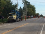 A gas leak closed County Road 27 in Cookstown, Ont. on Wednesday, Sept. 21, 2016. (Geoff Bruce/ CTV Barrie)