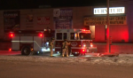 Barrie, Ont. firefighters were called to a blaze at Spring Vacuum and Furniture store on Thursday, Sept. 23, 2016. (CTV Barrie)
