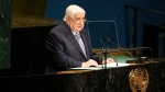 Syria's Foreign Minister Walid al-Moallem addresses the 71st session of the United Nations General Assembly at UN headquarters, Saturday, Sept. 24, 2016. (AP Photo / Jason DeCrow)