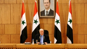 Syrian Foreign Minister Walid al-Moallem in Damascus, Syria, on March 12, 2016. (SANA via AP)