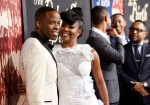 Chike Okonkwo, left, and Gabrielle Union, cast members in 'The Birth of a Nation,' pose together at the premiere of the film at the Cinerama Dome in Los Angeles on Wednesday, Sept. 21, 2016. (Chris Pizzello / Invision)