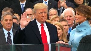 New U.S. commander-in-chief is sworn in