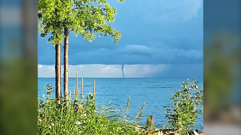 Waterspout over Georgian Bay